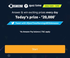 Amazon Quiz Today Answers Daily 8-12 Answers