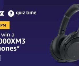 Free Sony 1000XM3 Headphones amazon quiz