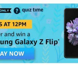 Amazon Quiz Answers for 26th July 2020 - Win Samsung Galaxy Z Flip
